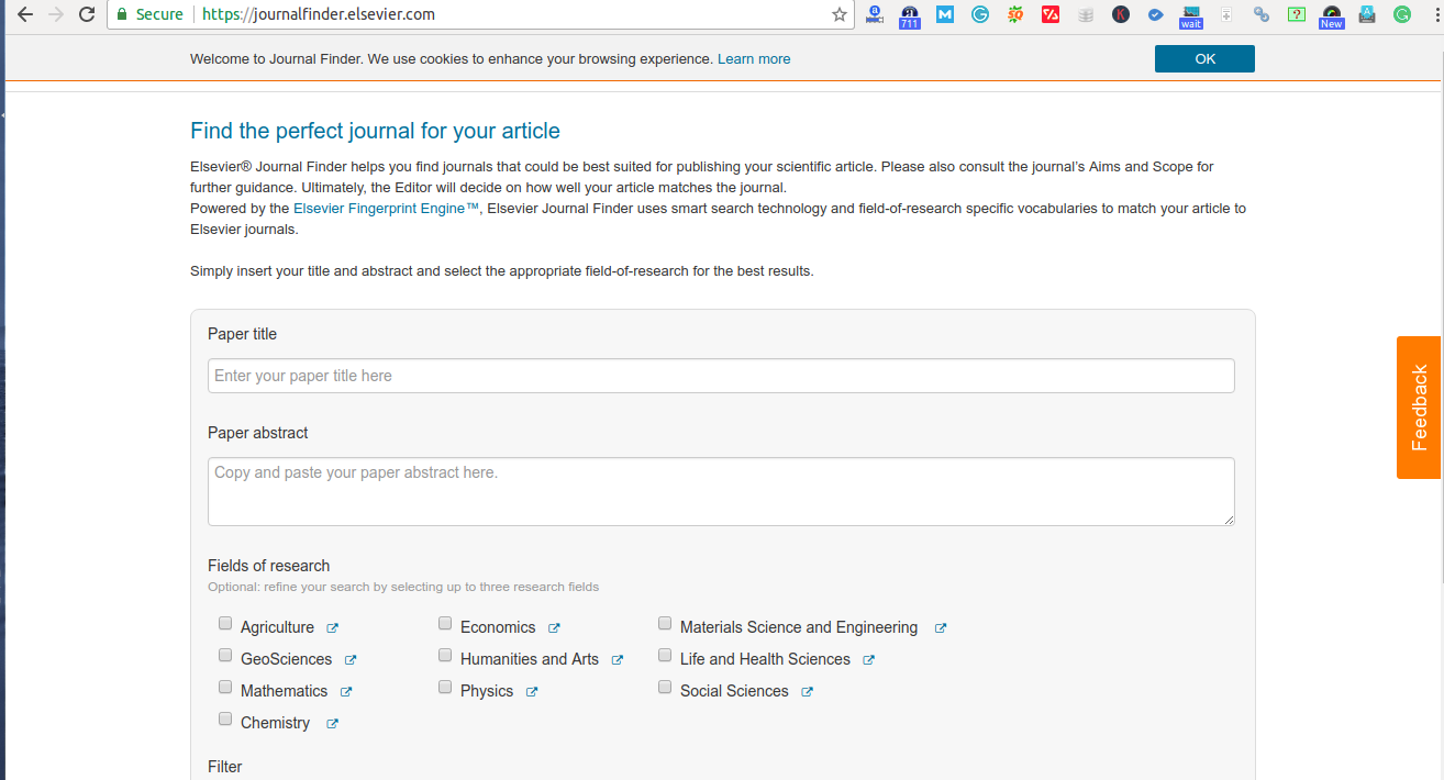 Journal Finder for Publication - Hub and Network of Posts