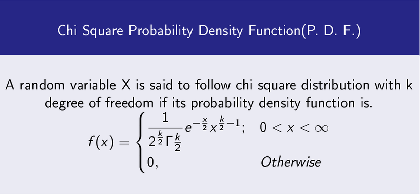 Chi Square Distribution PDF