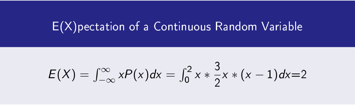 Expectation of a Continuous Random Variable Formula