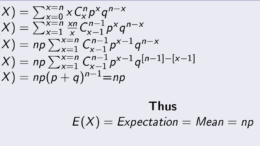 Expectation of X in Binomial Distribution