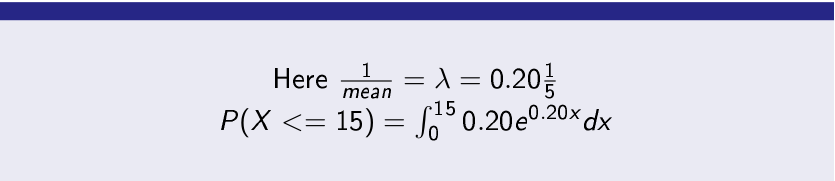 Exponential Distribution Numerical