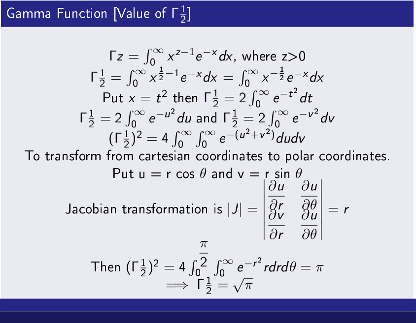 Gamma Function [Value of Γ 12 ]