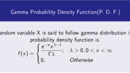 Gamma Probability Density Function