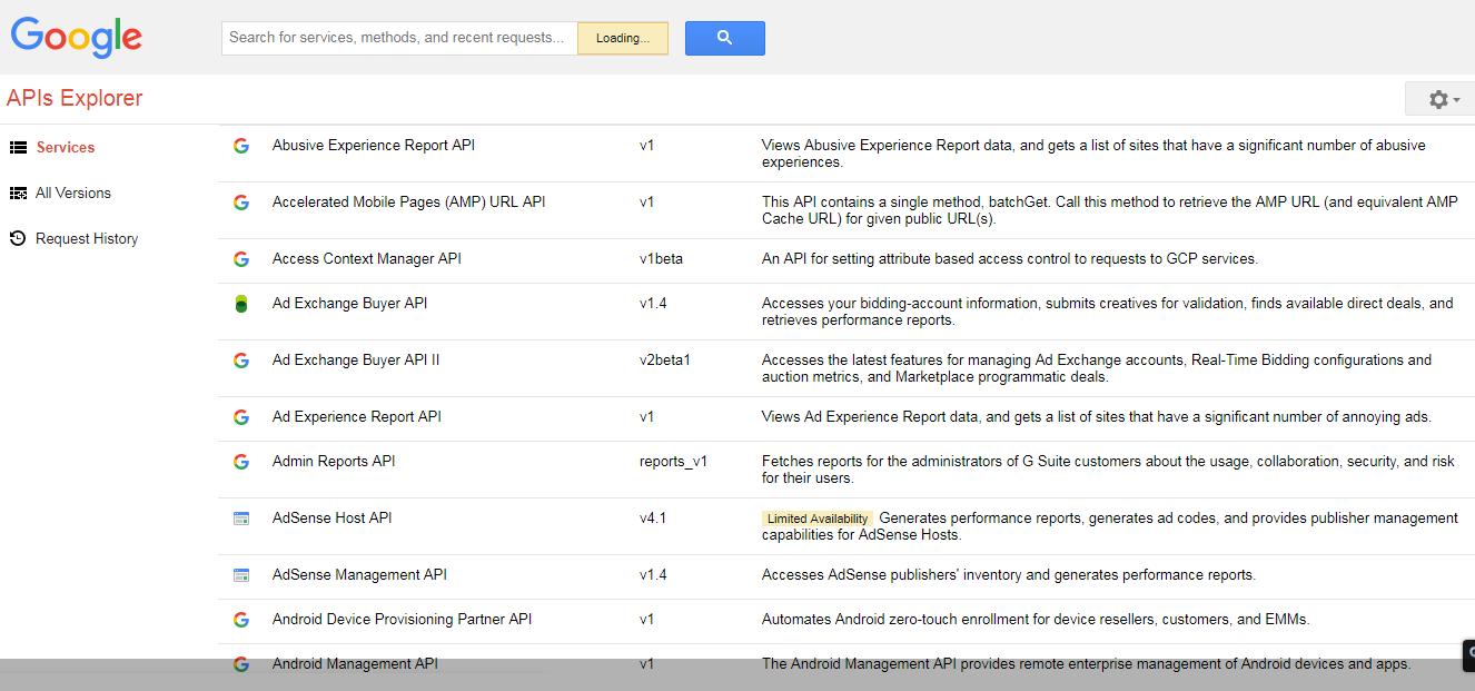 API Keys Google