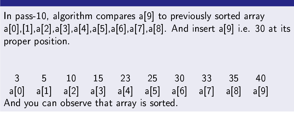 Insertion Sort in Python