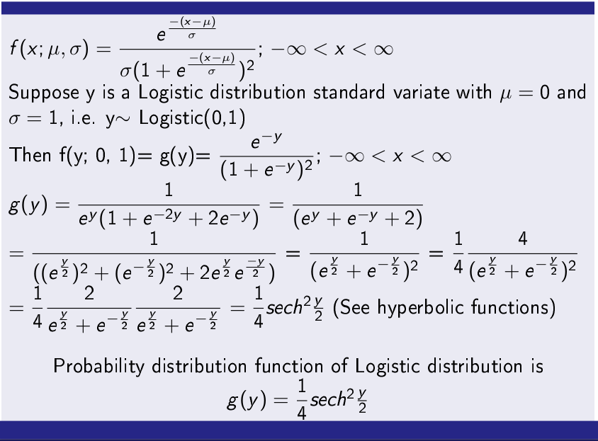 Logistic Distribution PDF