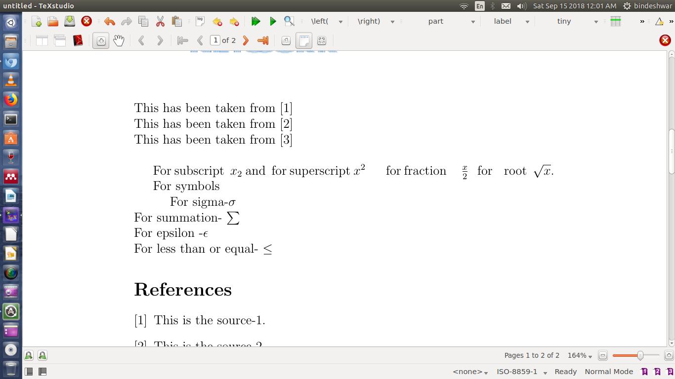 Math in Latex