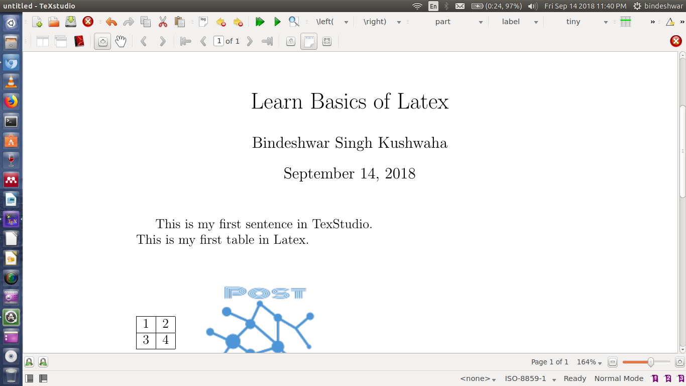 Title in Latex