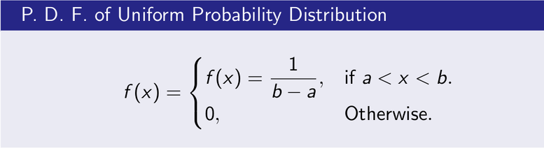 Uniform Distribution PDF