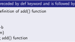 User Defined Functions in Python