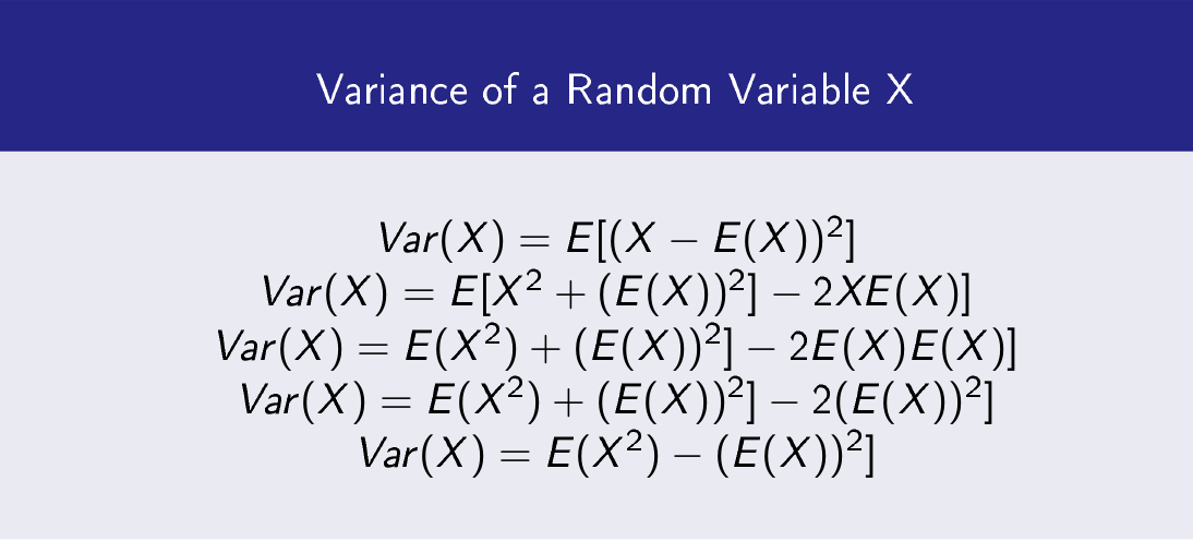 Variance of a Random Variable X